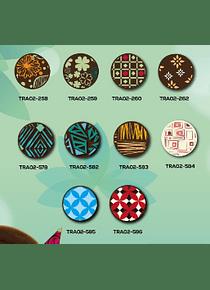 Transfer para chocolate varios diseños 2 Tintas