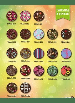 Transfer para chocolate  varios diseños 3 tintas