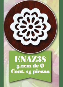 Encaje de azúcar 14 pzs ENAZ38