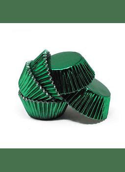 Capacillo Verde Metálico por tanto 17 pz