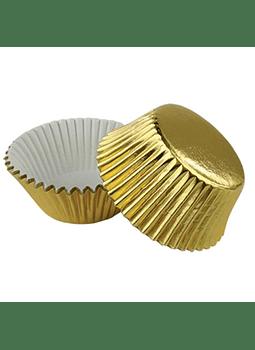 Capacillo dorado metálico 50 pz    4-2275