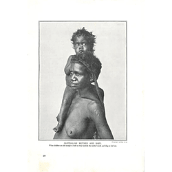 1910 Australian Mother And Baby