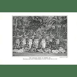 1910 The Lakalaka Dance At Lekimba, Fiji