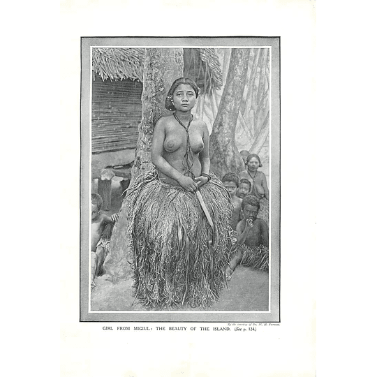 1910 Girl From Migiul, The Beauty Of The Island