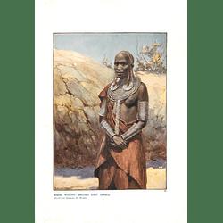 1910 Masai Woman, British East Africa, Norman Hardy Artist