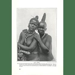 1910 Zulu Girls, Fancy Hairdressing, Thongs