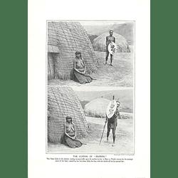1910 Natal Zulu Observing Custom Of Hlonipa