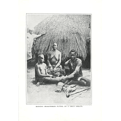 1910 Mashona Brass Worker Putting On A Girls Anklets