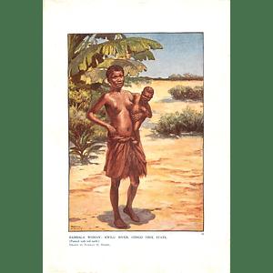 1910 Bambalat Woman, Kwilu River Congo Free State, Norman Hardy Artist