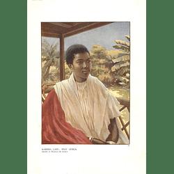 1910 Kabinda Lady, West Africa, Norman Hardy Artwork