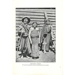 1910 Araucanian Indians, Chile, Photo Miss J Ackermann