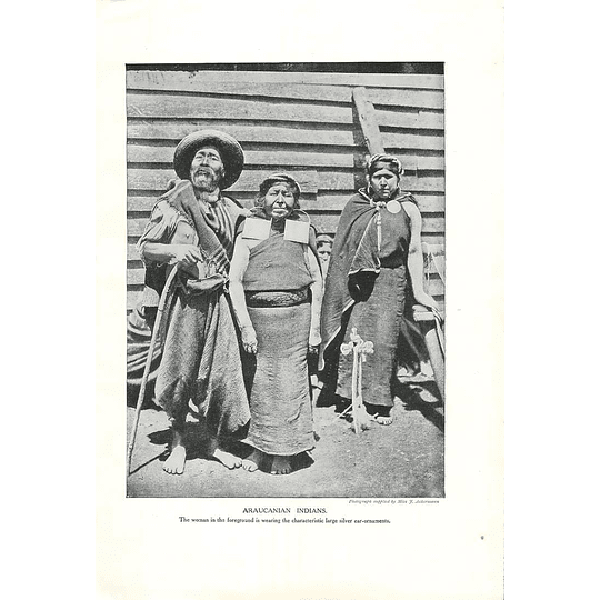 1910 Araucanian Indians, Chile, Photo Miss J Ackermann