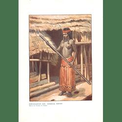 1910 Kenyah-kayan Girl, Sarawak Borneo, Drawn By Norman Hardy