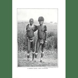 1910 Married Couple In Bantu Kavirondo, Sir Hh Johnston