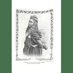 1910 Woman On Bou Saada, South Algeria Carrying Child J Geiser Algiers