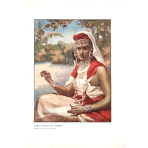 1910 Kabyle Woman Of Algeria, Drawn By Norman Hardy