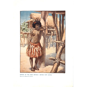 1910 Woman Of The Rigo District British New Guinea Drawn By Norman Hardy