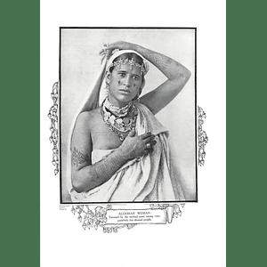 1910 Algerian Woman Tattooed, J Geiser Algiers