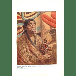 1910 Haida Woman Of Queen Charlotte Island, Showing Little Plug, Norman Hardy