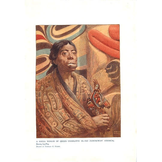 1910 Haida Woman Of Queen Charlotte Island, Showing Little Plug, Norman Hardy