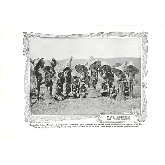 1910 Kavirondo Bay Uganda, Ja-luo Fisher Women And Their Baskets