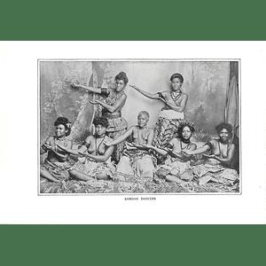 1910 Dancing Girls And Women From Samoa