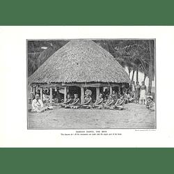 1910 Dance Performed While Sitting, Samoa, The Siva, Jj Lister