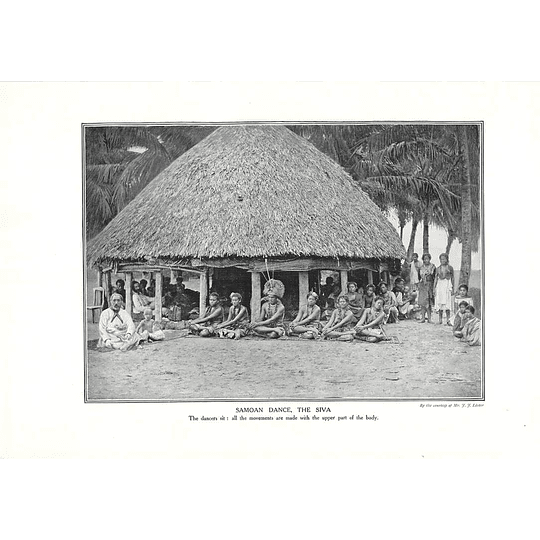 1910 Dance Performed While Sitting, Samoa, The Siva, Jj Lister
