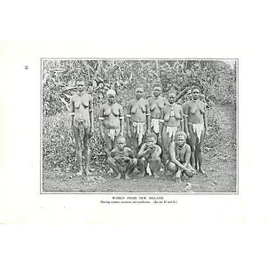 1910 Women From New Ireland Showing Costume Ornament And Scarification