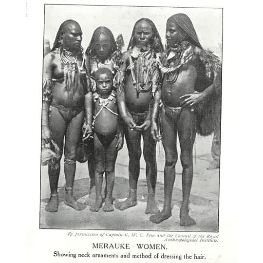 1910 Merauke Women Showing Neck Ornaments Hairdressing