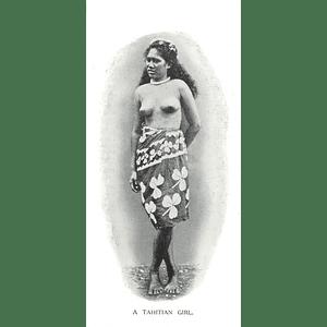 1910 A Tahitian Girl, Standing Pose