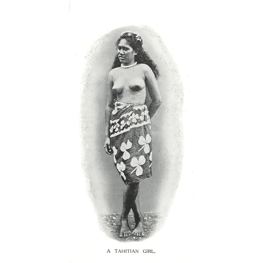 1910 A Tahitian Girl, Standing Pose