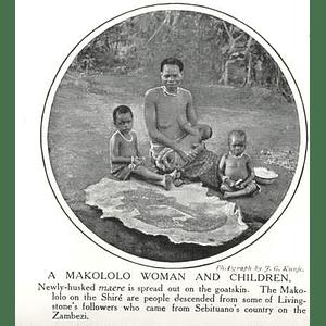 1910 Makololo Woman And Children