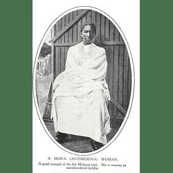 1910 A Hova Woman (antimerina) Wearing An Embroidered Lamba
