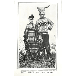 1910 Dato Chief And His Bride