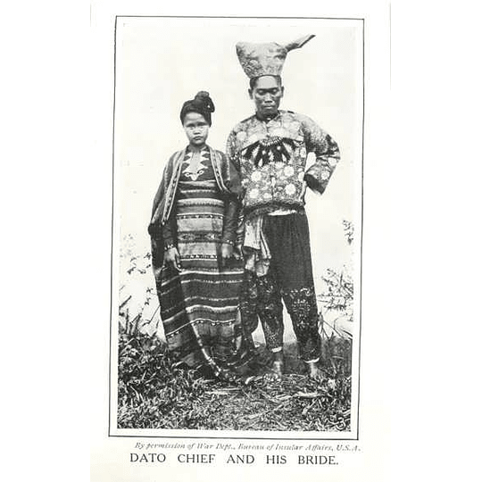 1910 Dato Chief And His Bride