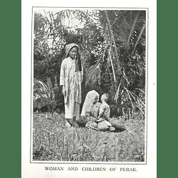 1910 Woman And Children Of Perak