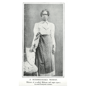 1910 A Betsimisaraka Woman In Semi-european Costume