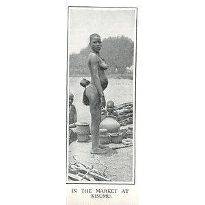 1910 Young Woman In The Market At Kisumu