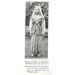 1910 Respectable Married Woman Of Kelantan Wearing Broad Sash