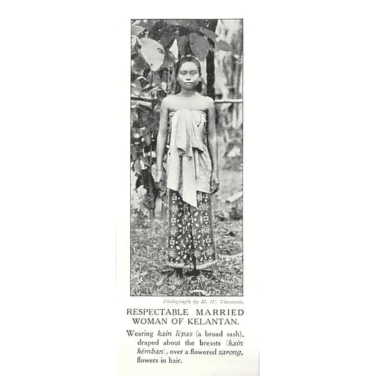 1910 Respectable Married Woman Of Kelantan, Flowers In Hair