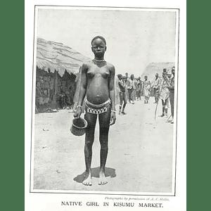 1910 Native Girl In Kisumu Market