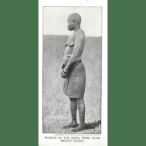 1910 Woman Of The Bosia Tribe Near Mount Elgon