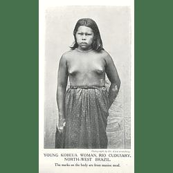 1910 Young Kobeua Woman, Rio Cuduiary, North-west Brazil