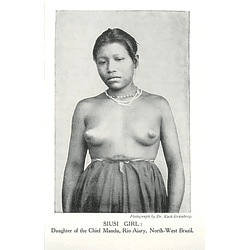 1910 Siusi Girl, Daughter Of Chief Mandu, Rio Aiary, North-west Brazil