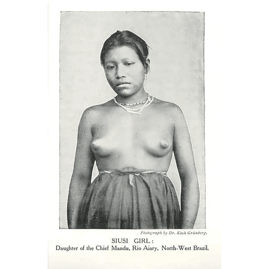 1910 Siusi Girl, Daughter Of Chief Mandu, Rio Aiary, North-west Brazil