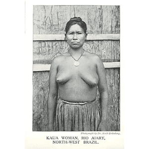 1910 Kaua Woman,rio Aiary, North-west Brazil