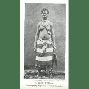 1910 A Kru Woman, Showing Heavy Fingerings