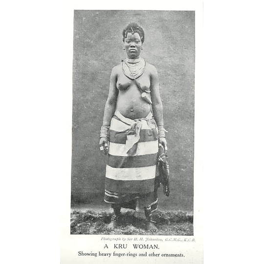 1910 A Kru Woman, Showing Heavy Fingerings