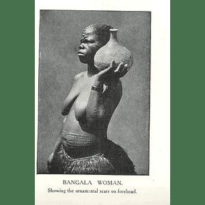 1910 Bangala Woman Showing Ornamental Scars On Forehead